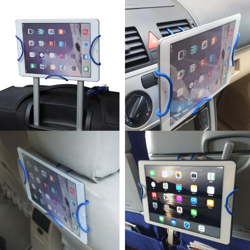 Tablet Mount, Universal Cross-Shaped Flexible DIY Tablet [up to 10.5 inch] Holder Mount [Red]