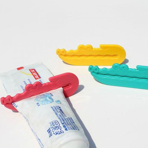 Toothpaste Squeezer - Crocodile Shaped Toothpaste Tube Squeezer, Easy Dispenser! [Teal]