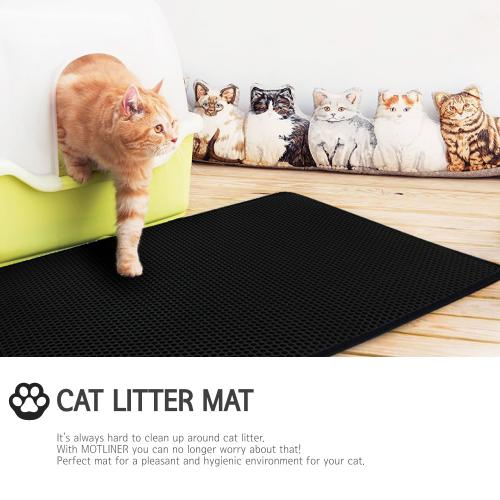 [TrapMats] Premium Cat Litter Catcher Trap Mat XL (34 in x 21.5 in) - [2 Pack] Easy to Clean, Durable, Odor Repellent, Stink Free, w/ Waterproof Layer (Urine Does Not Seep Through!), Soft for Sensitive Paws