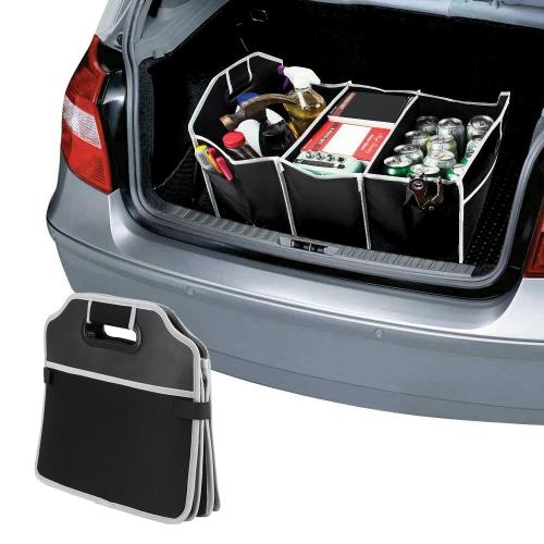 "Portable Collapsible Car Trunk Organizer w/ Carrying Handle For Everyday Use & Road Trips! [Black] (20""x 13"")"