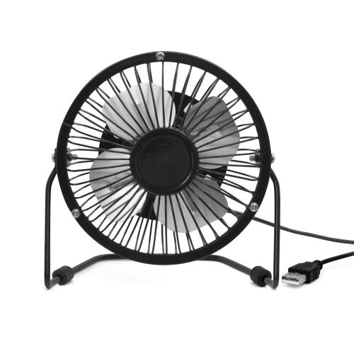 [Kikkerland] Desk Fan, USB Powered Desk Personal Fan [Black] - Compatible w/ Devices With USB Output