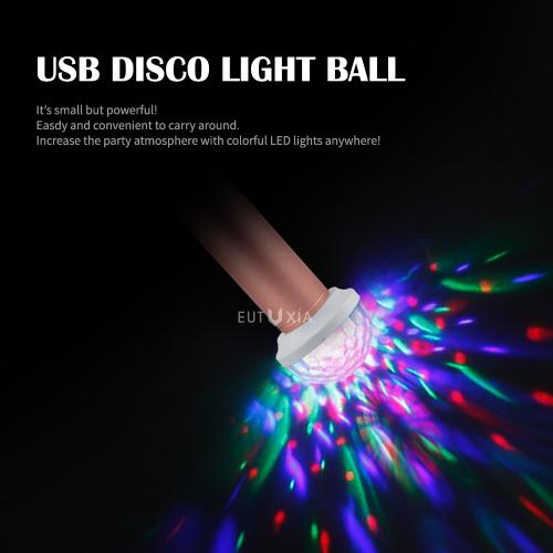 USB Mini Disco Ball Light, Portable Party Light [DC 5V], Great for Parties, Dancing, Xmas, Weddings and More! Attach to your Power Bank or Other USB Device!!