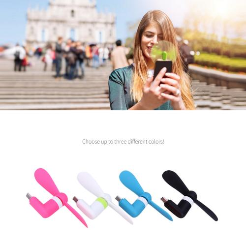 Portable Micro USB Cooling Fan [Hot Pink] - Use Your Phone to Cool Off!