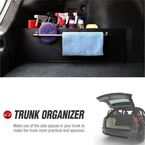 RED SHIELD Auto Trunk Organizer for Car, SUV, or Minivan w/ Towel Rack, Create Velcro Attached Shelving 22.4 inch X 7 inch [2 PK]