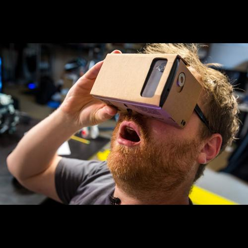Virtual Reality Cardboard (for 5.2 inches and up phones) 3D Glasses DIY Tool Kit Featuring NFC & Easy Setup