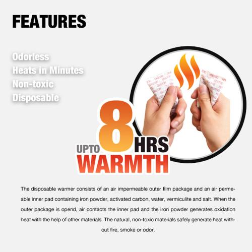 Owlheat [variety Value Pack - 40 Pieces Hand / 40 Pieces Toe / 10 Pieces Pocket] Disposable Self Heating Body/toe/hand Warmers - They Heat In Seconds