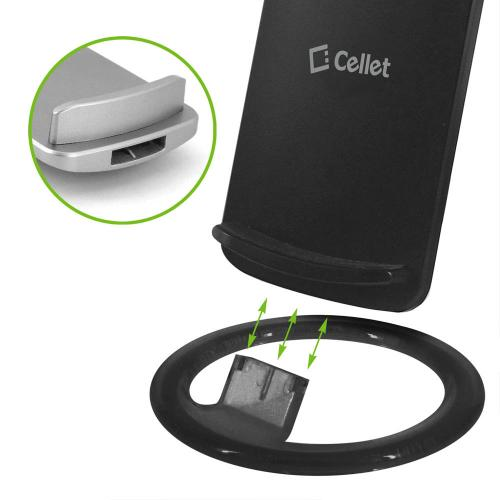 Wireless Charging Pad, Adjustable Dual Coil Wireless Charging Stand for all Wireless (Qi) Enabled Devices [Black]