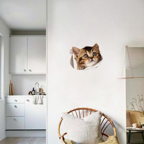 3D Wall Decal Sticker, [Adorable Kitten Kitty Cat] Removable Wall Art Sticker Decal - Perfect for Any DIY Room!