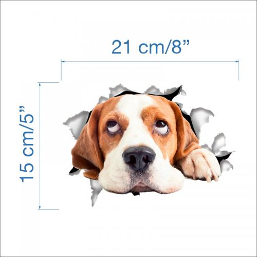 3D Wall Decal Sticker, [Hound Dog] Removable Wall Art Sticker Decal - Perfect for Any DIY Room!