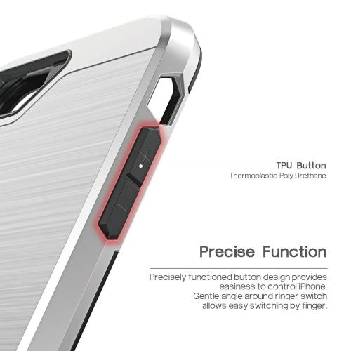 Apple iPhone 8/7/6S/6 Case, BEFROG [Silver] Dual Layer Drop Protective Case [Armor Case] PC + TPU Bumper Case