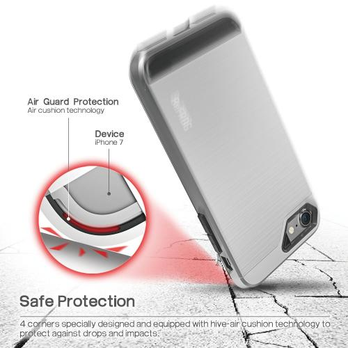 Made for Apple iPhone 8/7/6S/6 Case, BEFROG [Silver] Dual Layer Drop Protective Case [Armor Case] PC + TPU Bumper Case by Befrog