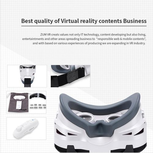 ZumVR 3D VR Glasses Virtual Reality Headset for Smartphones
